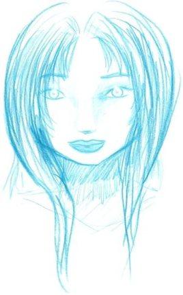Fille bleue
