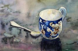 La vieille tasse bleue.