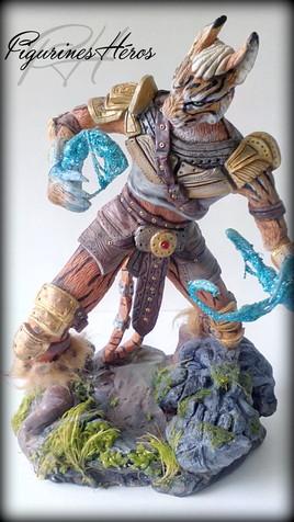 Figurine Khajiit Skyrim Sorcier