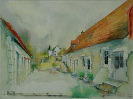 portrait  aquarelle de votre maison  ou village