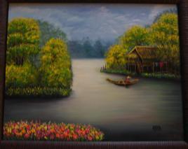 la barque sur le lac