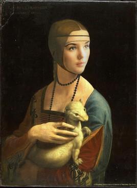 la femme à l'hermine de De Vinci revisitée par Isabelle Adjani ..
