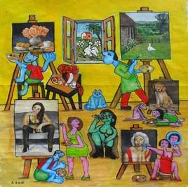 atelier d'artistes à la campagne