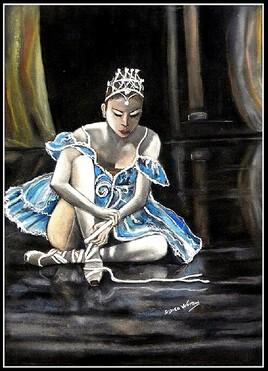 La danseuse étoile pastel sec