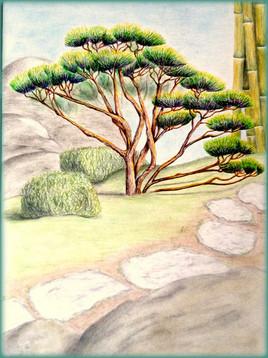 Au jardin japonais.