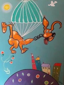 Marley le chien parachutiste