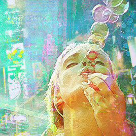 Soap bubbles Girl