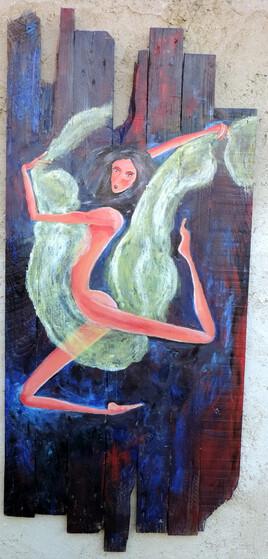 Danseuse au voile vert
