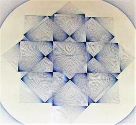 un de mes 1er dessins .. inspiration Vasarely..