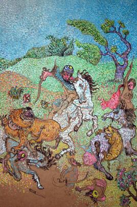 la chasse aux lions d'apres Delacroix (achevé)