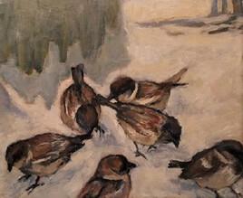L'hiver, les oiseaux