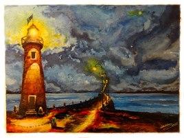 phare au port de la Houle