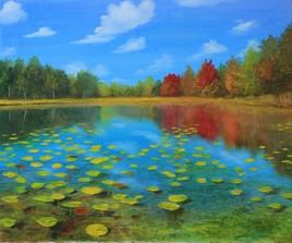 l'étang en automne