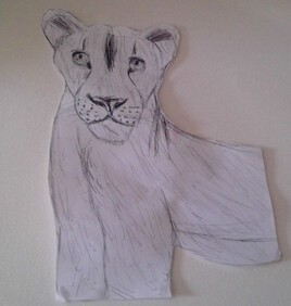Dessin lionne