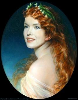 Marilyn revisite  une peinture de Franck Bernard Diksee pour le 1er mai :)