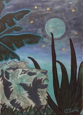 Le lion et la lune