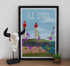 Affiche des phares de l'Ile d'Aix