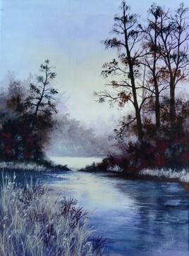 calme sur l'étang