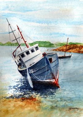 Pauvre bateau abandonné