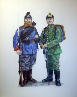 Allemagne - DEUX PRUSSIENS - 1914