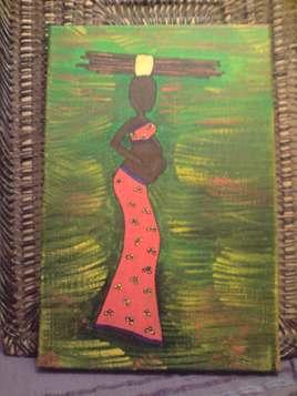 Femme africaine enceinte