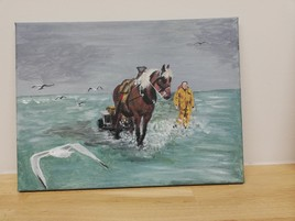 Pêche aux crevettes à cheval à oostduinkerke 2