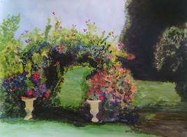 entre deux potées du jardin de Gaston Dolbeau