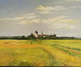 hameau dans le lointain