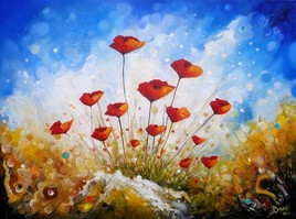 Poppies touch the sky