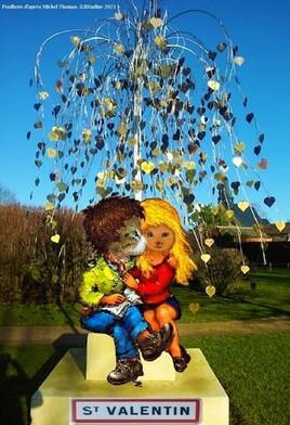 la balade amoureuse de Miou et Grisou au village de la St Valentin  :)