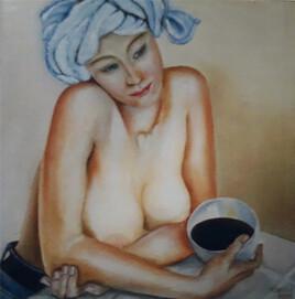 Le bol de café noir