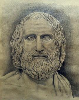 Etude du buste d'Euripide