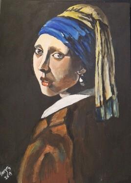 La Jeune fille à la perle (d'aprés Vermeer)