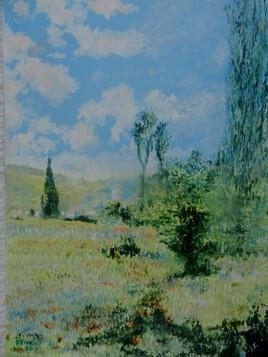 Vue de Vetheuil ( d'arpès Claude Monet)