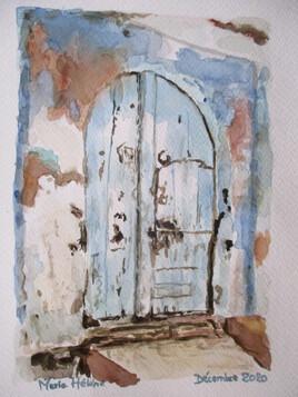 La vieille porte bleue
