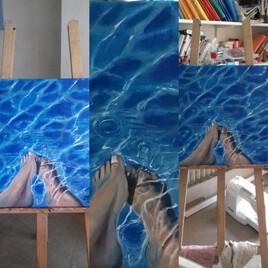 les pieds dans l'eau, sous différentes vues