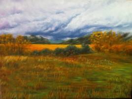 Paysage d'automne au Salagou