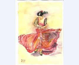 Peinture Danseuse de Flamenco
