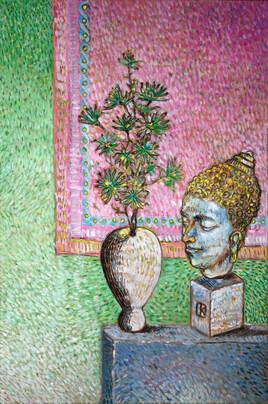 chrysanthèmes et bouddha (achevé)