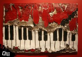 Piano de ciment abstrait