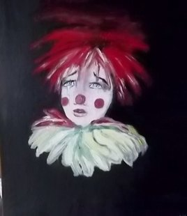 petit clown triste