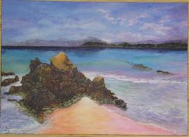 Crique corse et son rocher