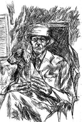 Monsieur Bonnard et son chien