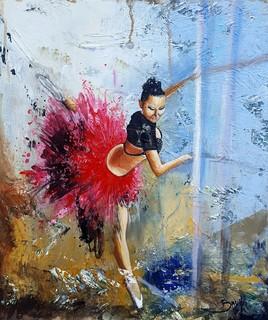 La danseuse - ©Bruni Eric. Tous droits réservés - Tableau peinture, art figuratif.