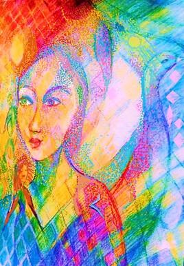 Eloge de la douceur ou Femme arc-en-ciel (2e version)
