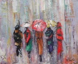 prmenade sous la pluie 20f
