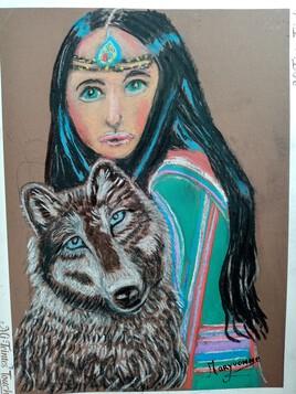 Jeune fille et son loup