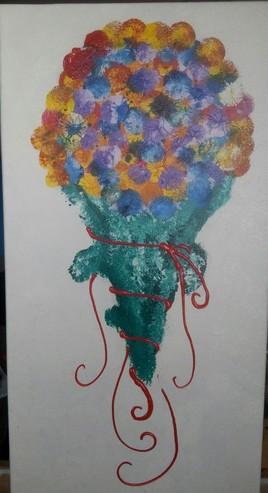le cornet de fleurs