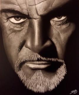Portrait Sean Connery N&B