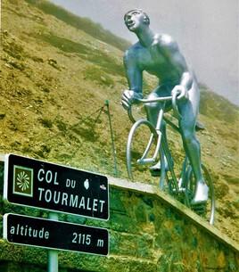 le coureur cycliste..   col du Tourmalet .